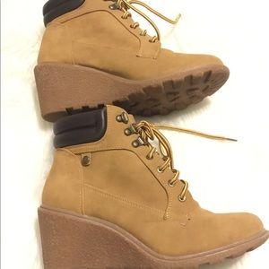 Union Bay Rapsody Women's Wedge Ankle Boots